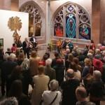 deschide expoziţia Hosiannaa lui Manfred Stumpf în Dommseum Frankfurt, 29.05.2015.