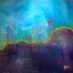"""""""Towers"""" von Marlene Schanz;    Acryl auf Leinwand, 150/150 cm"""