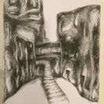 Cristinel Melkonian: Pigment Liner     auf Papier, A3