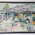 """Teodora Sauer. """"Garten in Seck-bach"""", Akryl auf Leinwand, 75/55"""