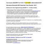 Ordinea de zi pentru AGADIR 17
