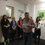 Ovidiu Costiug recită versurile lui Mirel Giurgiun(ambii membri)