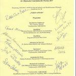 die 11 Autogramme der Sängerinnen